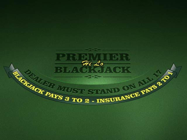 Card game Premier Blackjack Hi Lo Gold